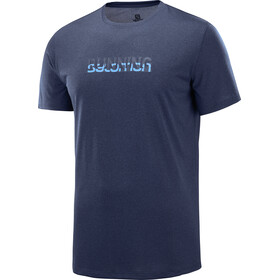Salomon Agile Graphic Running T-shirt Men blue